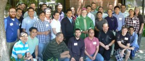 Seminarians of the Dioceses of Sacramento and Santa Rosa with Bishop Soto, during their CANFP weeklong program