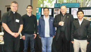 Bishop Vasa with Santa Rosa seminarians following his presentation