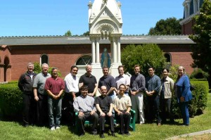 San Francisco Seminarians, with Vocation Director Fr. David Schunk and CANFP Executive Director Sheila St. John at 2013 program at St. Patrick's Seminary