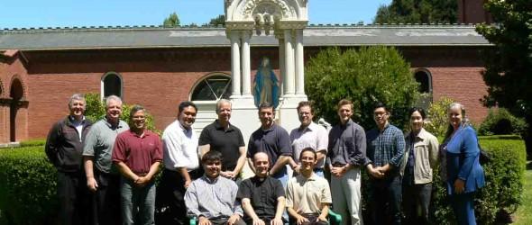San Francisco Seminarians, with Vocation Director Fr. David Schunk and CANFP Executive Director Sheila St. John at 2013 program at St. Patrick's Seminary